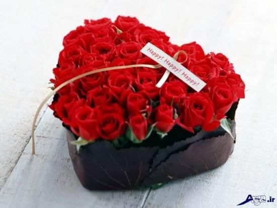 عکس گل به شکل قلب