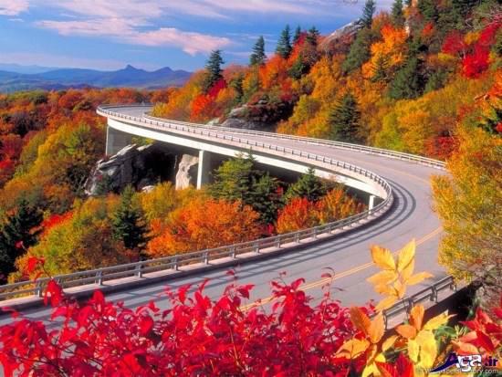 نمای زیبایی از جاده های زیبا و مناظر طبیعی
