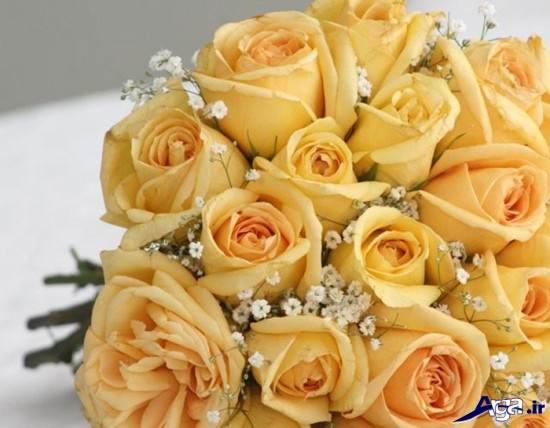 دسته گل رز زرد شیک و متفاوت