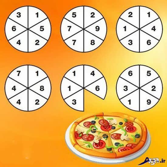 معمای برش پیتزا ها