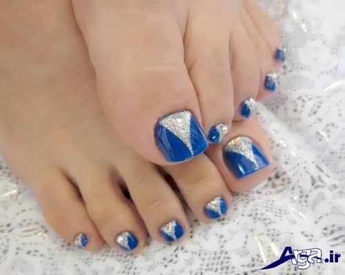 انواع طرح های ناخن پا