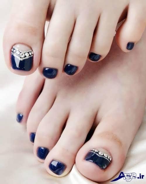 طرح های زیبا برای ناخن پا