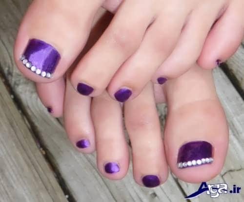 انواع طراحی های زیبا برای ناخن پا