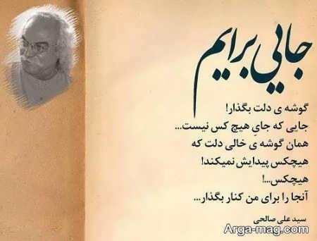 شعرهای سید علی صالحی