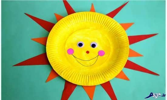 کاردستی خورشید با کاغذ