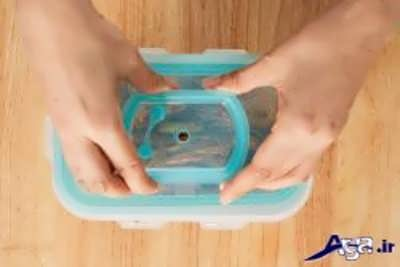 بستن درب کیمچی برای فرآیند تخمیر