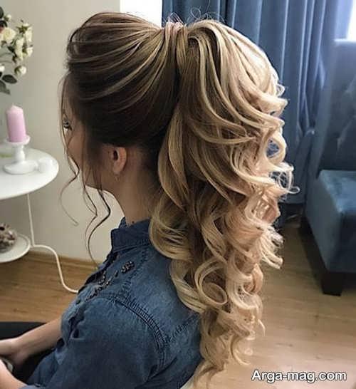 مدل موی نیمه باز زیبا