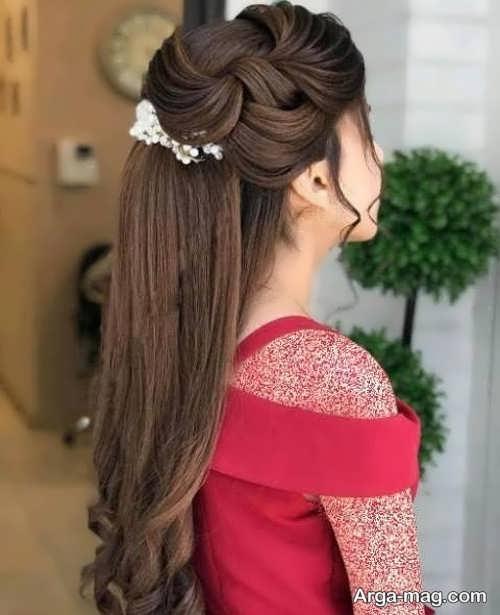 انواع مدل مو نیمه باز دخترانه
