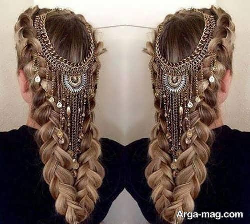 مدلهای زیبایی از شنیون مو نیمه باز