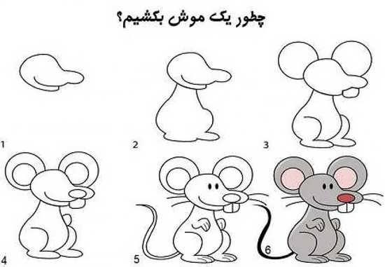 مدل نقاشی موش ساده