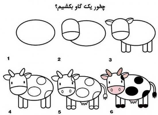 مدل نقاشی گاو