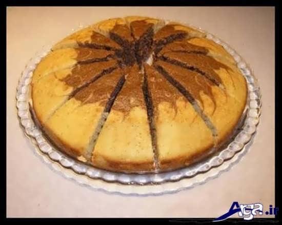 کیک اسفنجی با تزیین متفاوت