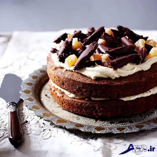 تزیین زیبا کیک اسفنجی