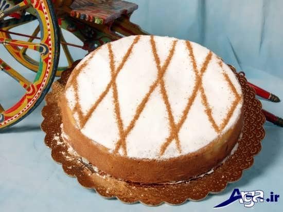 تزیین ساده کیک اسفنجی