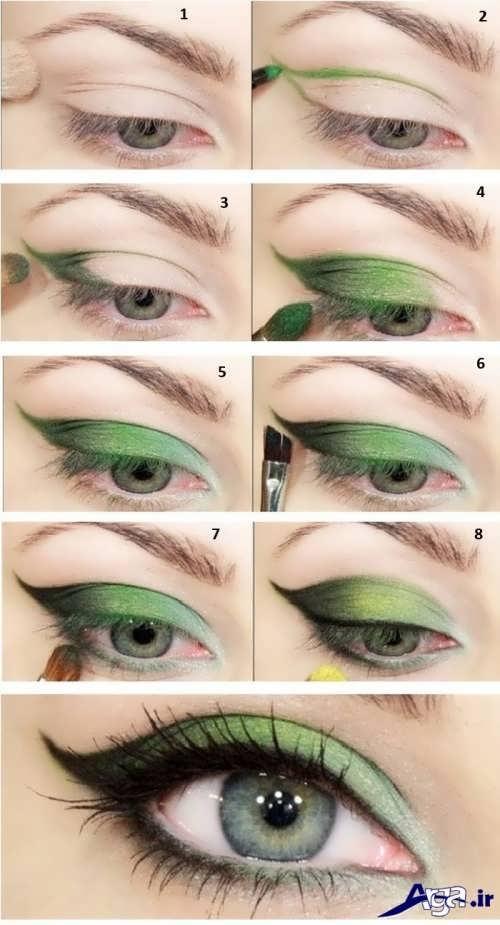 مدل سایه چشم برای چشم های ریز