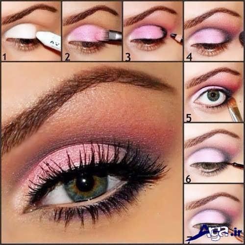 انواع مدل های آرایش چشم عروس
