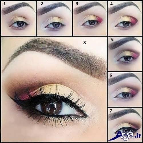 مدل آرایش چشم عروس زیبا