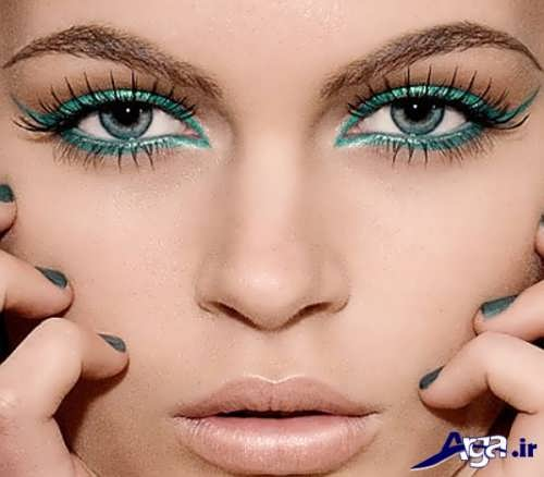 مدل آرایش چشم ریز ساده