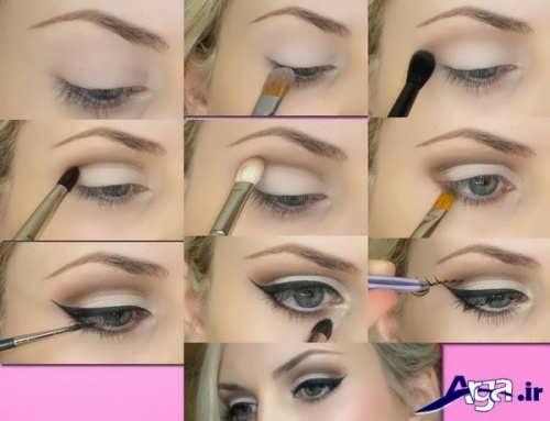 مراحل آرایش چشم ریز