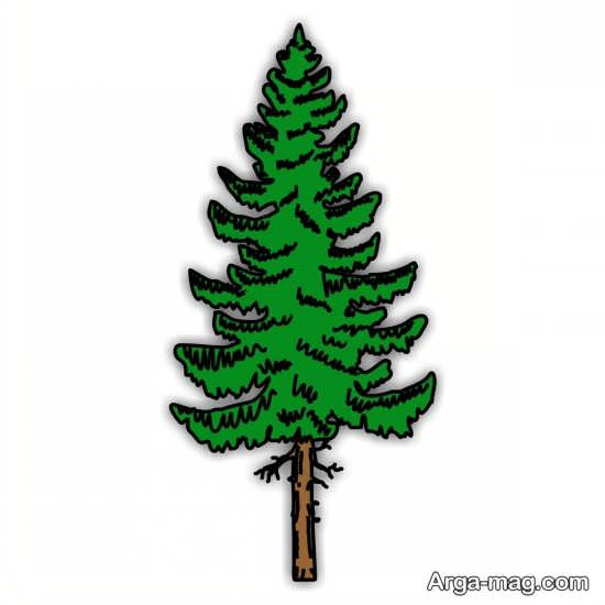 نقاشی درختان با رنگ آمیزی بی نظیر
