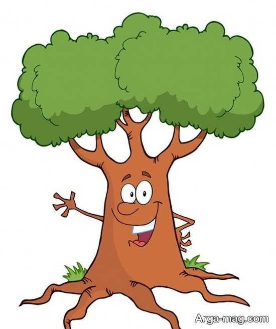 بامزه ترین نقاشی درخت