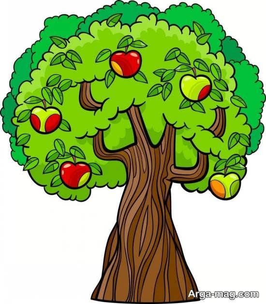 رنگ آمیزی هنرمندانه درخت