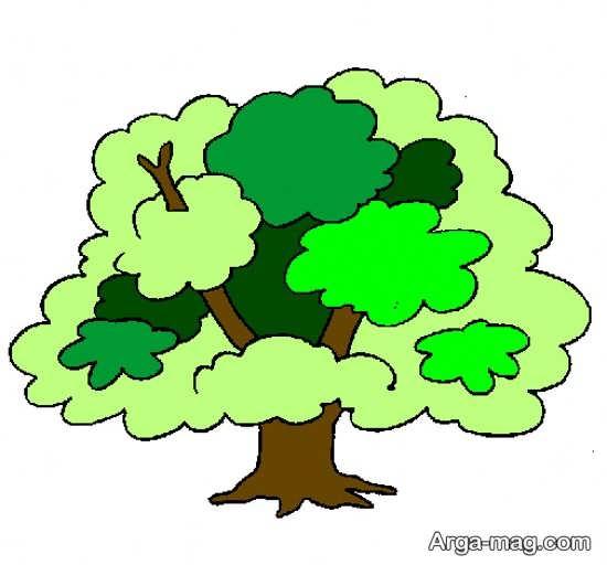 رنگ آمیزی جدید درخت