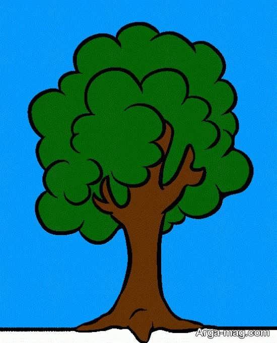 رنگ آمیزی متفاوت درخت