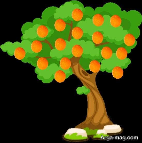رنگ آمیزی دیدنی درخت
