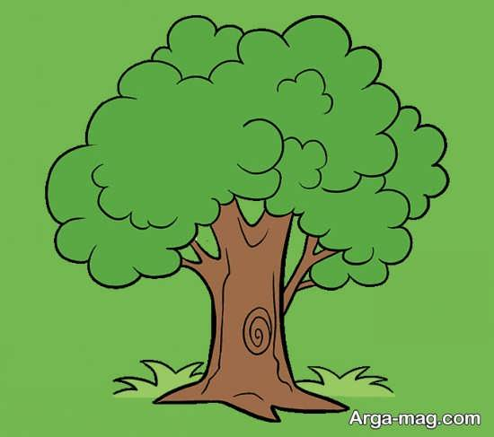 ساده ترین نقاشی درخت
