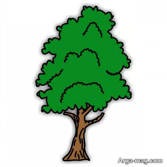 نقاشی درختان با رنگ آمیزی خاص