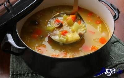 مراحل تهیه سوپ سبزیجات
