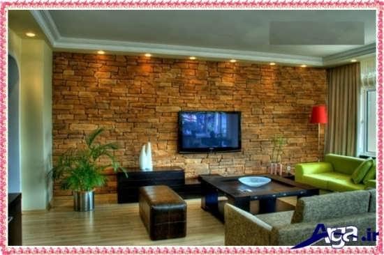 کاغذ دیواری زیبا و جدید برای پشت تلویزیون