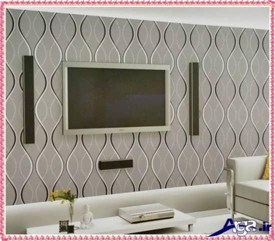 کاغذ دیواری ساده برای پشت تلویزیون