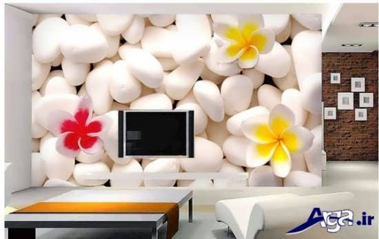 کاغذ دیواری سه بعدی برای دیوار پشت تلویزیون