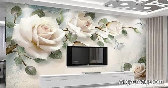 تصاویری از پوستر دیواری پشت تی وی