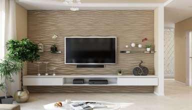 طرح های زیبا کاغذ دیواری پشت تلویزیون
