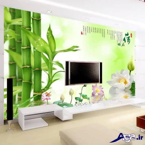کاغذ دیواری سه بعدی برای پشت تلویزیون