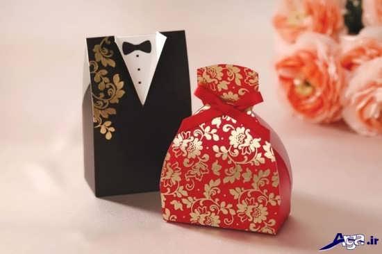 تزیین جعبه هدیه عروس و داماد