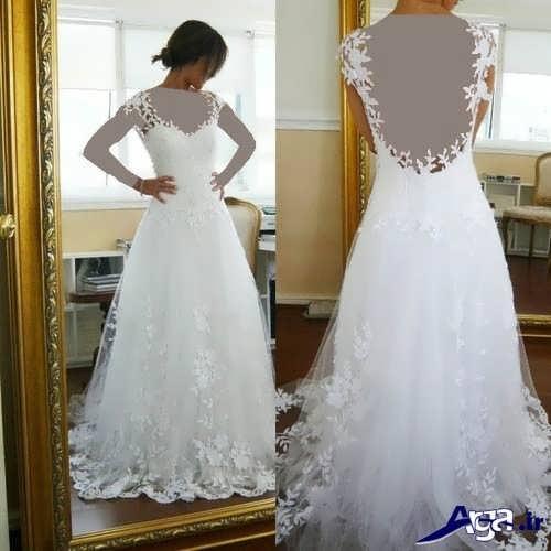 لباس عروس پشت باز شیک و زیبا