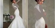 لباس عروس پشت باز با جدیدترین طراحی مد سال