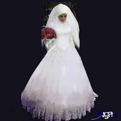 لباس عروس با حجاب کامل
