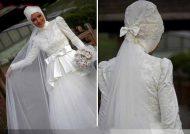 مدل های لباس عروس با حجاب زیبا و جدید