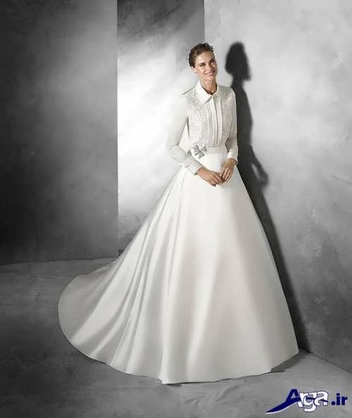 لباس عروس پوشیده اروپایی