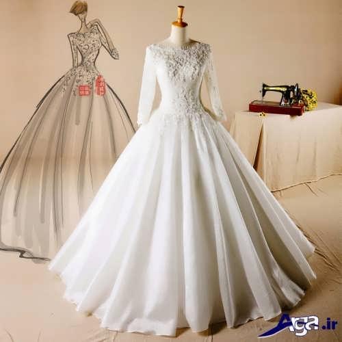 لباس عروس با حجاب دار زیبا