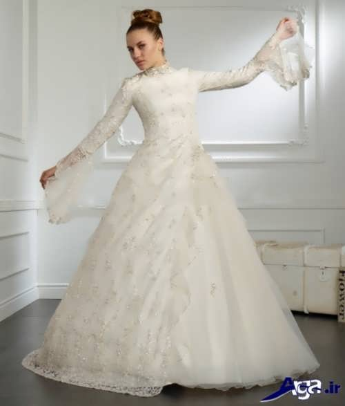 لباس عروس زیبا پوشیده