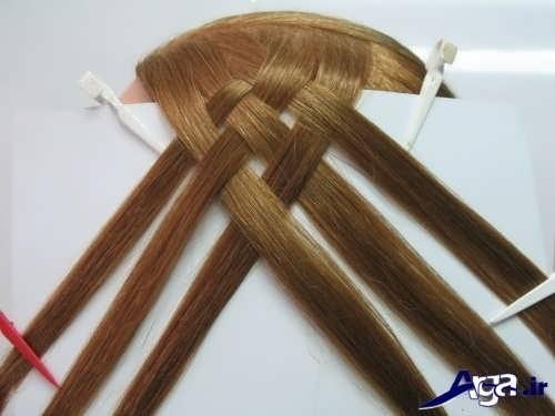 آموزش بافت مو حصیری با 6 دسته مو