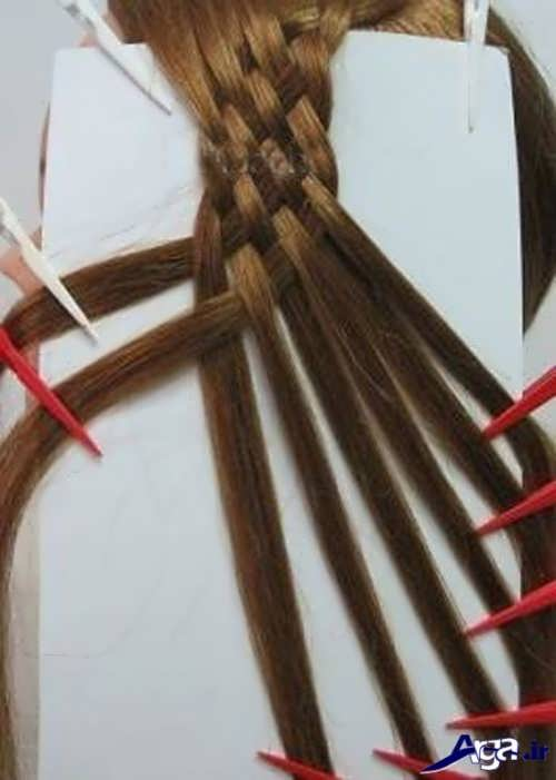 آموزش بافت مو حصیری با 8 دسته مو