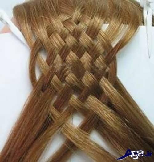 مراحل بافت موهای حصیری