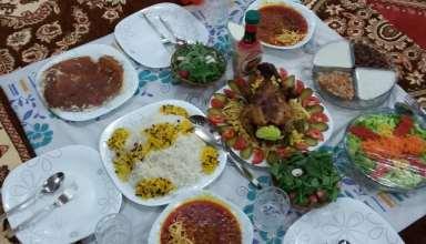 تزیین سفره غذا برای انواع مهمانی های ایرانی